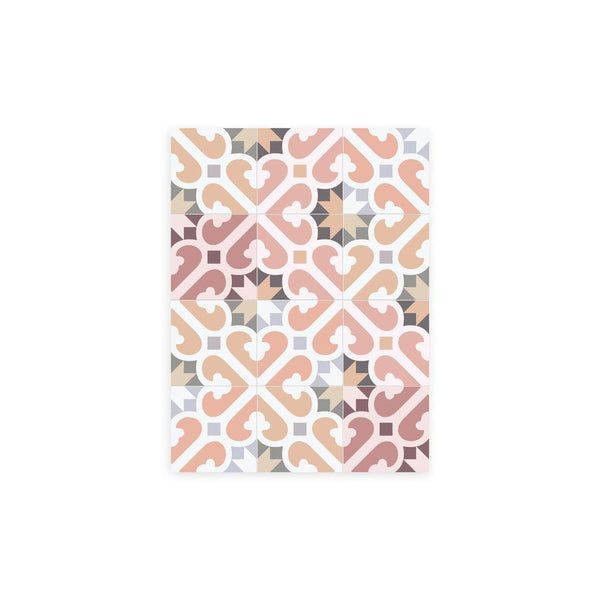 Mimosa Pattern Vinyl Floor Mat by MAMUT Big Design