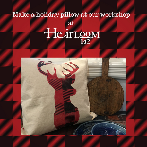 Holiday Pillows Paint Workshop