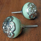 Ceramic & Brass Round Knob
