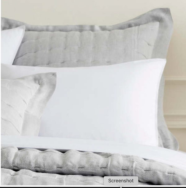 Pine Cone Hill Brussels Pillow Sham - grey