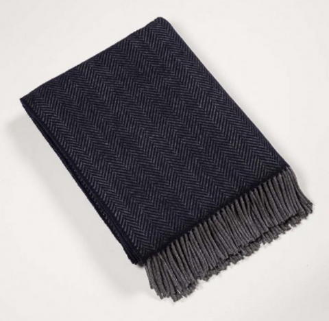 John Hanly & Co Merino Wool and Cashmere Blanket