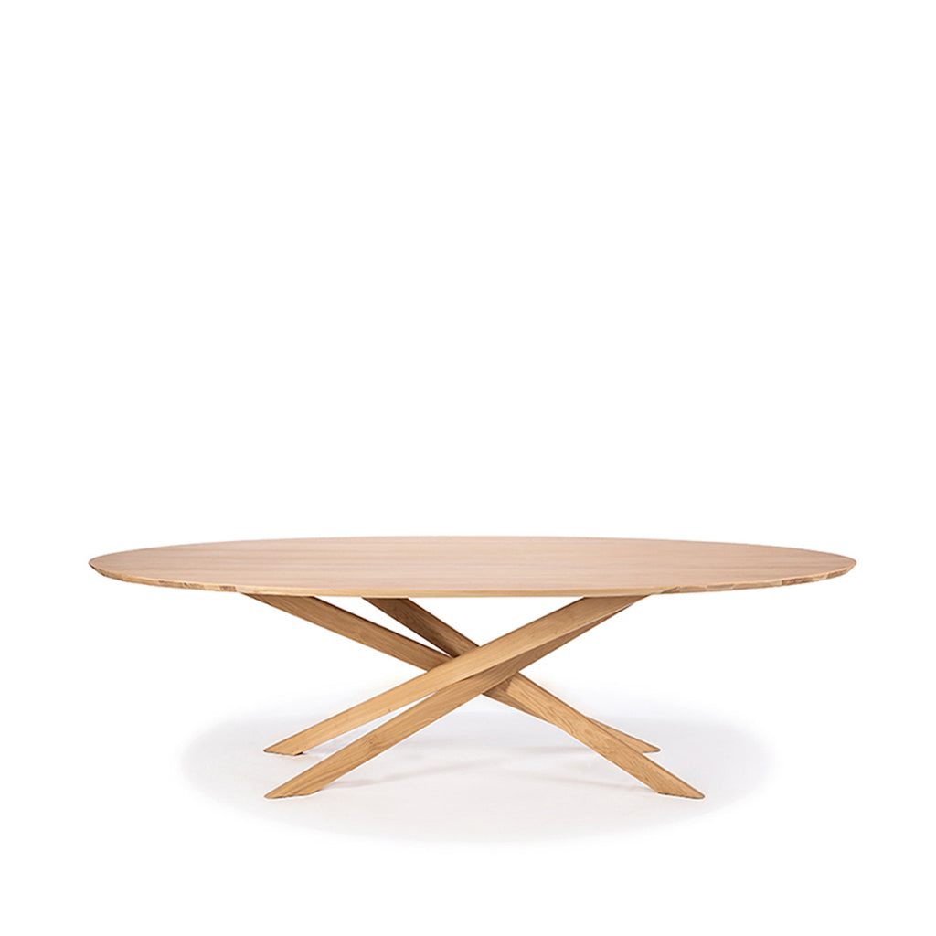 Oak Mikado Oval Dining Table - only available at lagom142.com