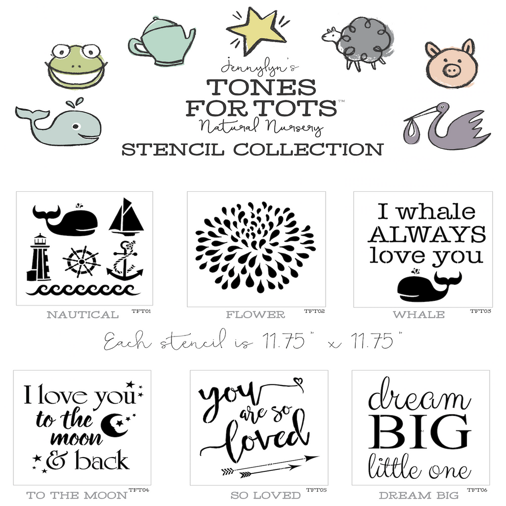 Tones For Tots Paint Stencils For Kids Walls And Furniture ...