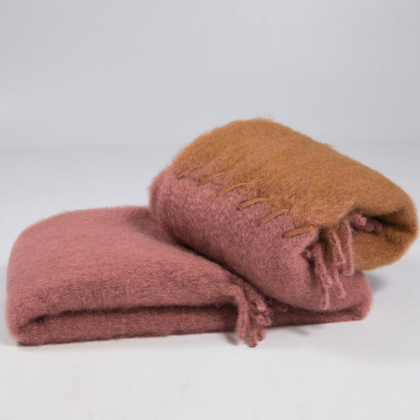 Mohair Throw Stitching by Ezcaray