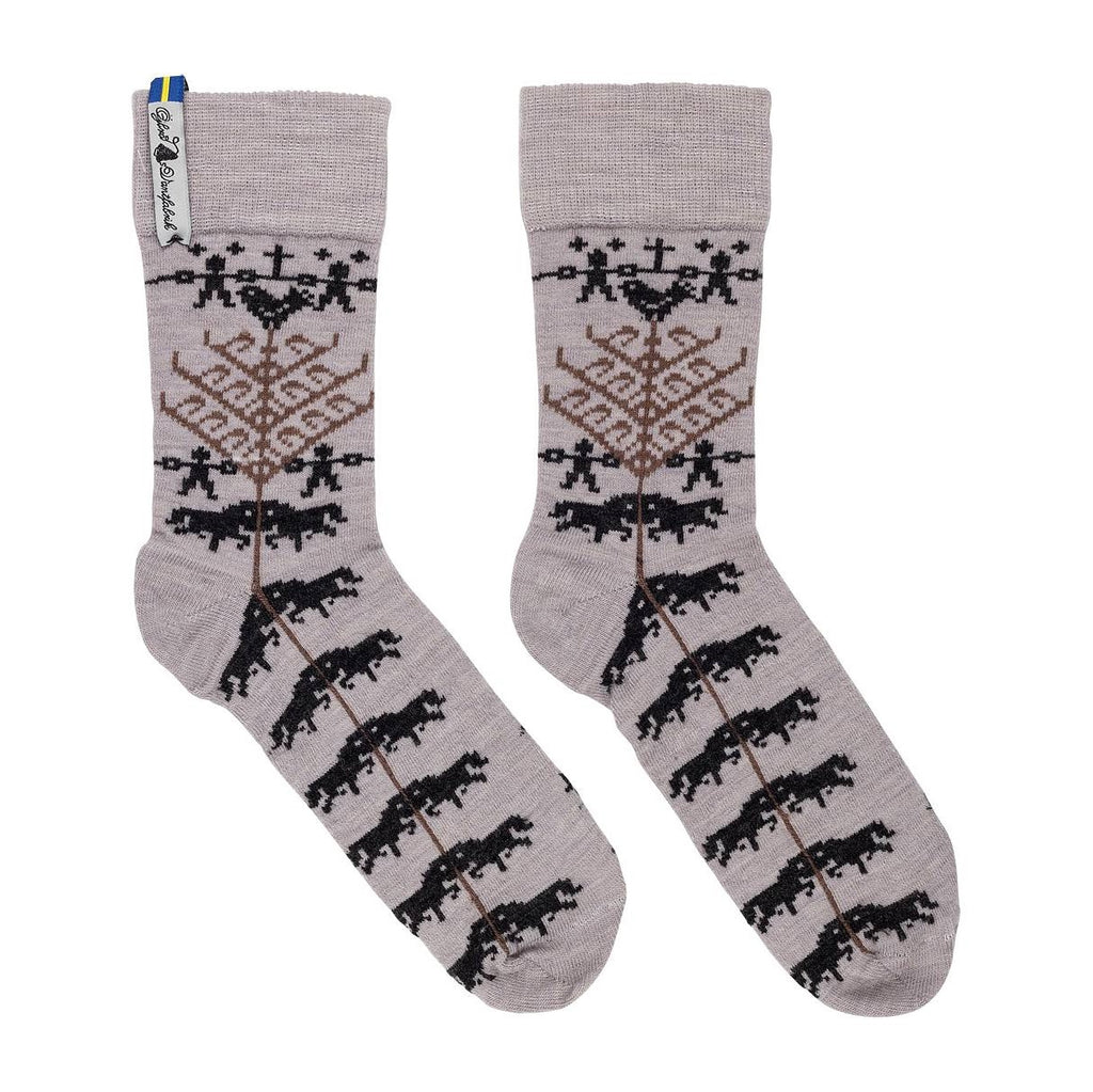 Yggdrasil Pattern Merino Everyday Socks Swedish Oejbro Vantfabrick