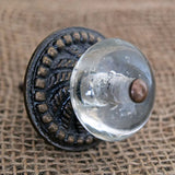 Rustic Glass Orb Knob