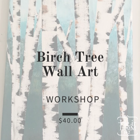 Birch Effect Wall Art on Canvas Workshop