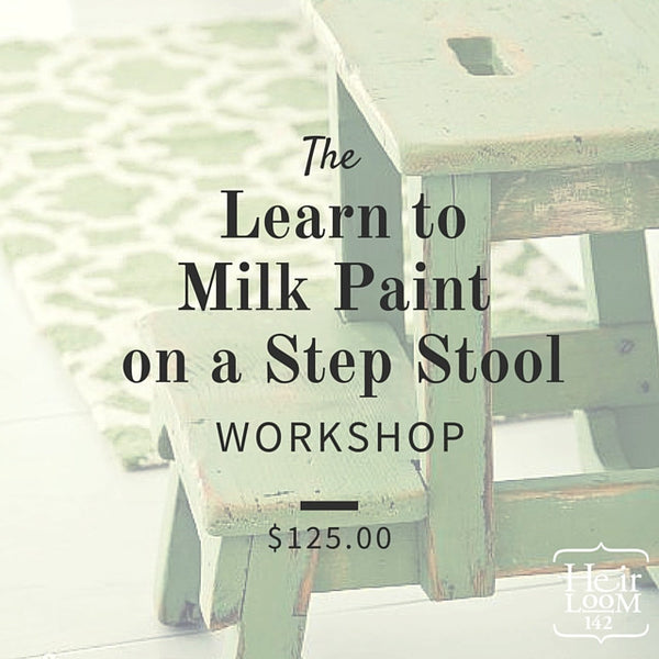 Milk paint a Step-Stool