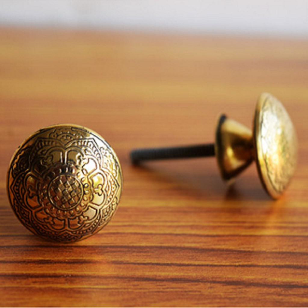 Copper Mandala Knob