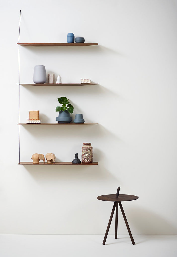 Stedge Solid Oak Hanging Shelves