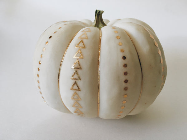 gold tattoo pumpkin