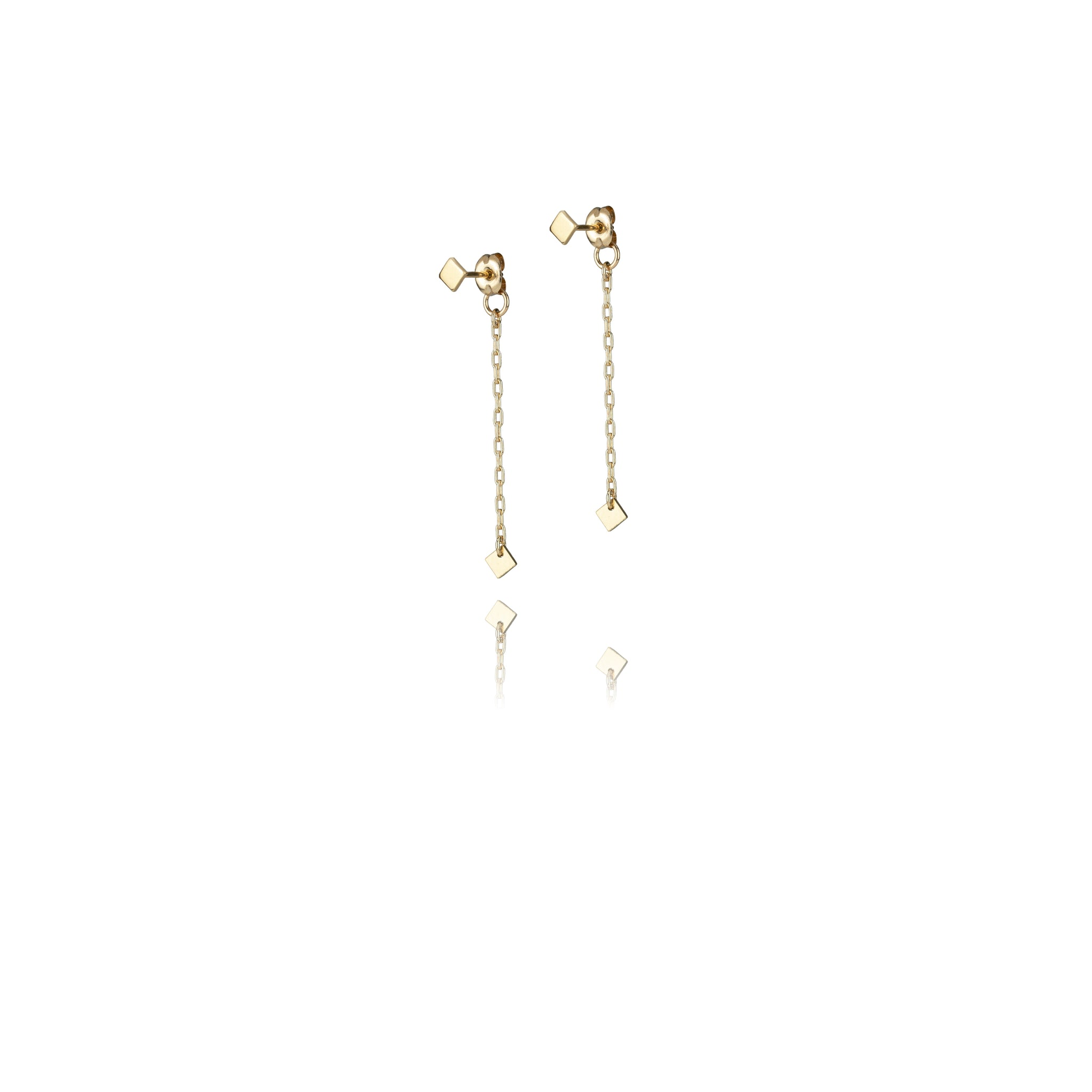 Micro Quad Droplet Earrings