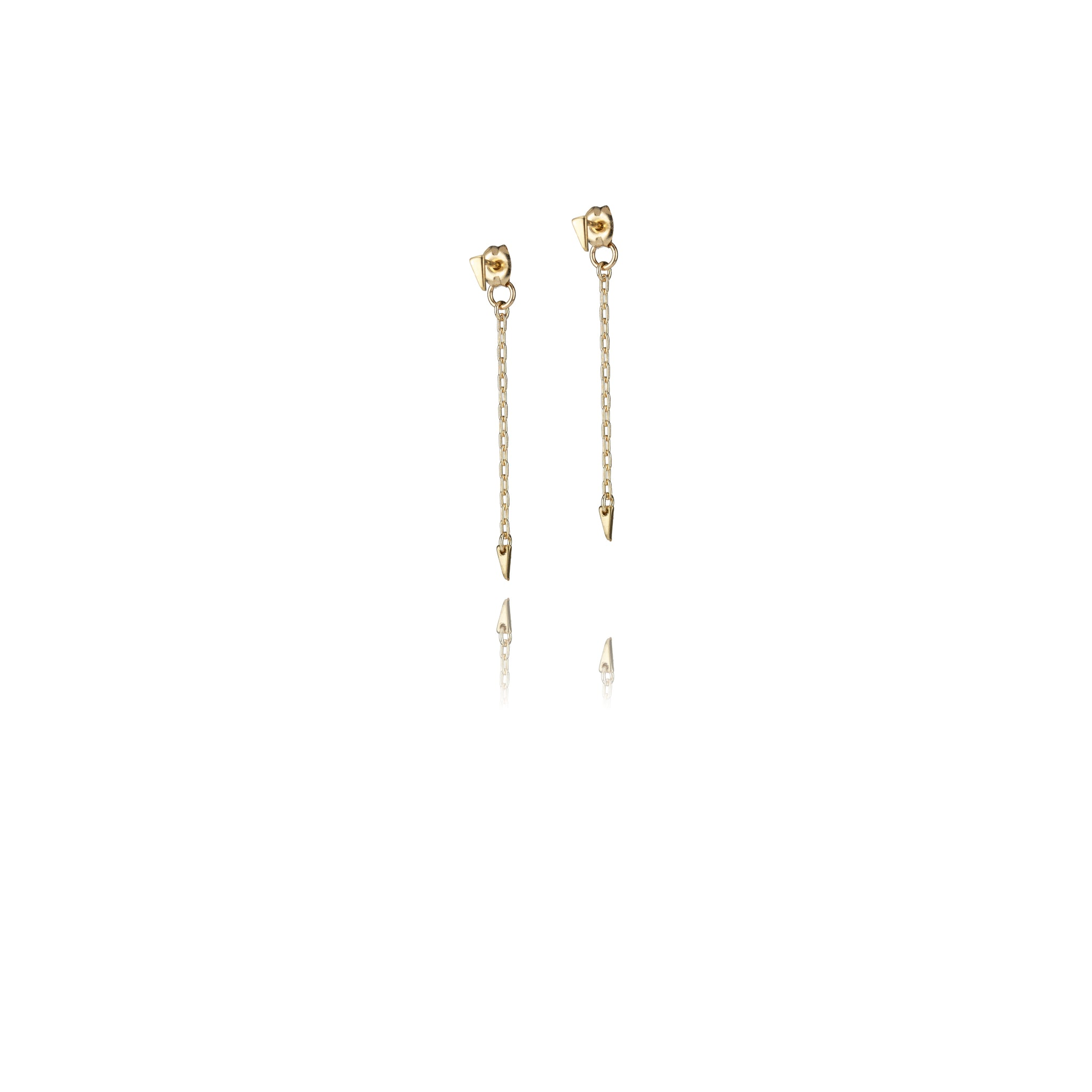 Micro Tri Droplet Earrings