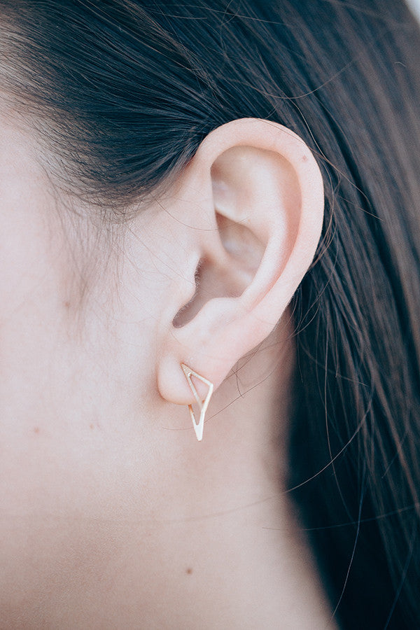 Mini Scalene Ear Jacket + Post Earrings