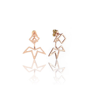 Spur Ear Jacket + Mini Quad Post Earrings