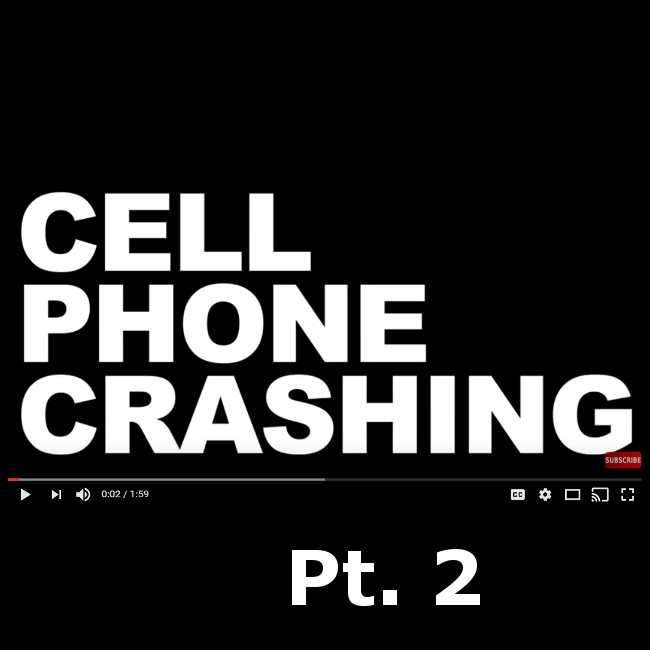 Cell Phone Prank - Cell Phone Crashing pt. 2