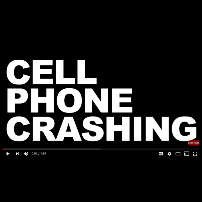Cell Phone Prank - Cell Phone Crashing