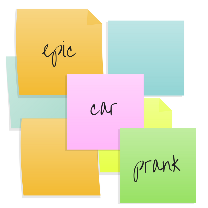 This Epic Sticky-Note Car Prank Must Have Taken Hours