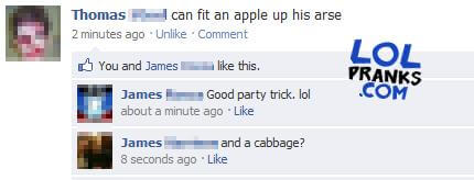 A Weird But Funny Facebook Status Prank Posted On This Guys Facebook Page When He Left It Logged On