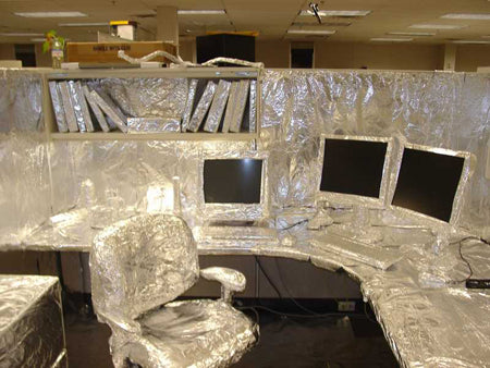 best-tin-foil-office-cubicle-prank-at-work-by-co-workers-desk-computer-chair-covered-amusing