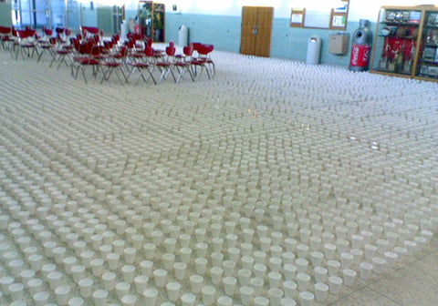 cafeteria-prank-senior-end-of-school-cups-on-floor