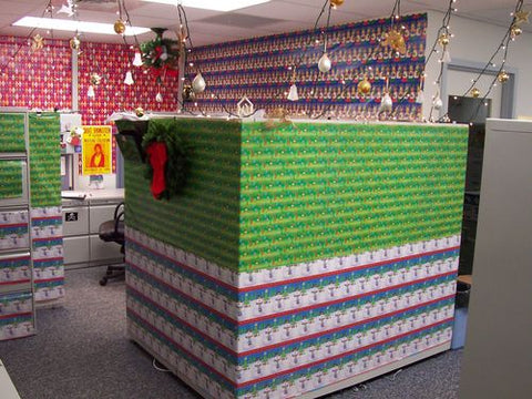 Office desk pranks ideas Tin Foil Christmasofficecubicleprankwrappingpaperfunny Wiring Design The Only List Of Office Prank Ideas Youll Ever Need Wtf Prank