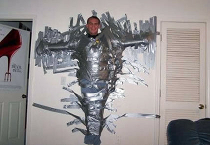 drunk-prank-duct-taped-to-wall