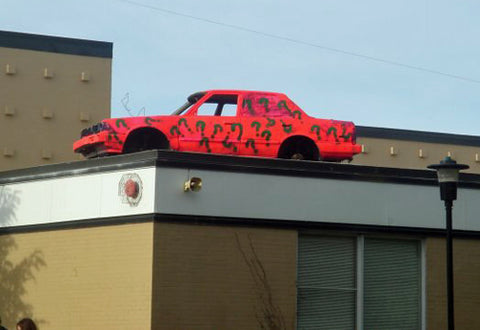 crazy-senior-prank-car-on-roof