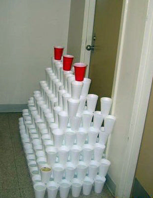 dorm-room-door-prank-cups-tower-trap