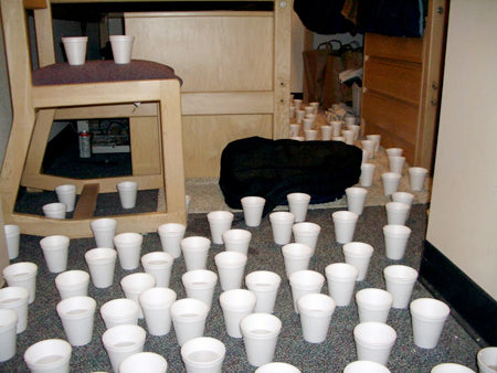 dorm-room-floor-mates-covered-it-with-plastic-cups-filled-with-water