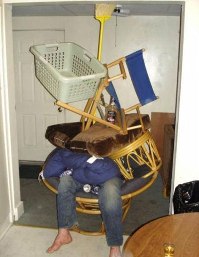 drunk-mate-prank-stacked-chairs-practical-joke