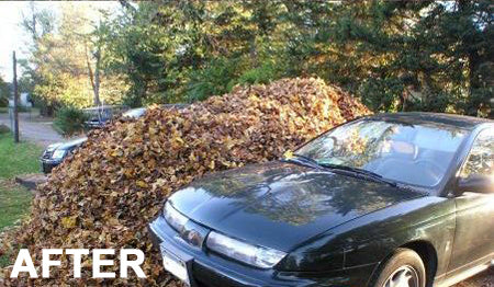 funny-easy-april-fools-prank-cover-car-in-leaves