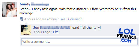 Intimidating facebook statuses and comments