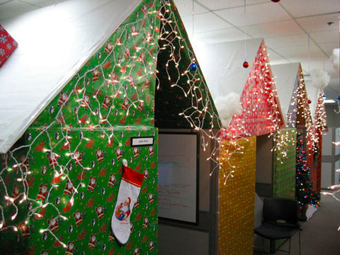 funny-employee-office-cubicle-christmas-prank-wrapped-up