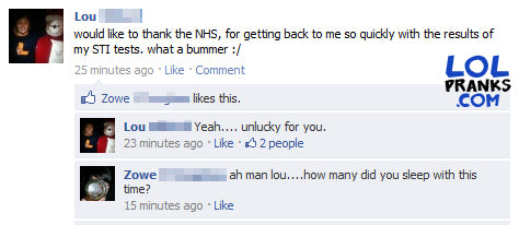 Funny Facebook F Embarrassing Sti Status Comments