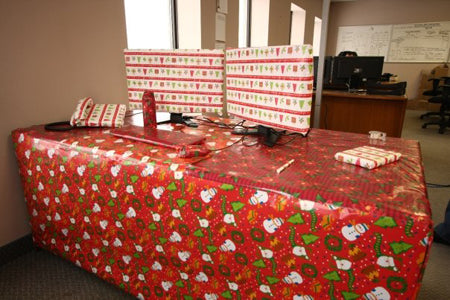 Funny Office Desk Prank Xmas Wrapping Paper Lol