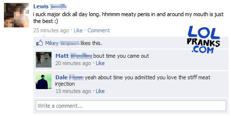 Guy Gets Funny F D On Facebook Status
