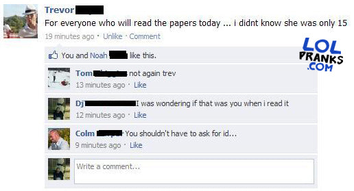 Guy On Facebook F D Funny Clever Status F