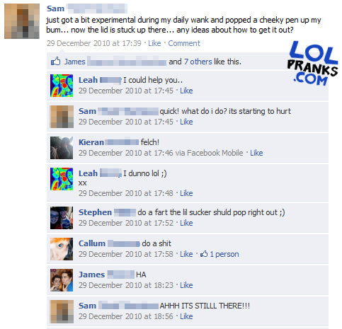 Intimidating facebook statuses that will get comments