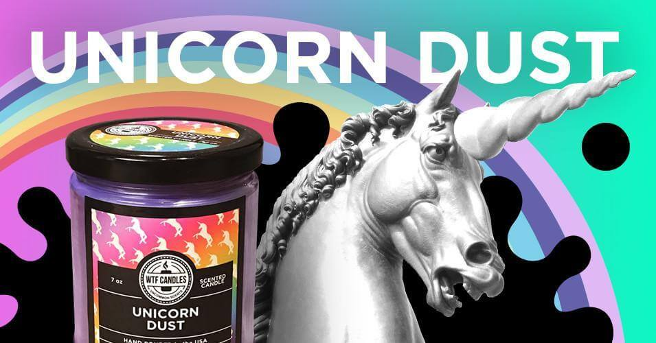 unicorn dust scented candle