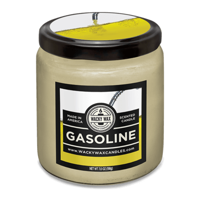 gasoline scented candle