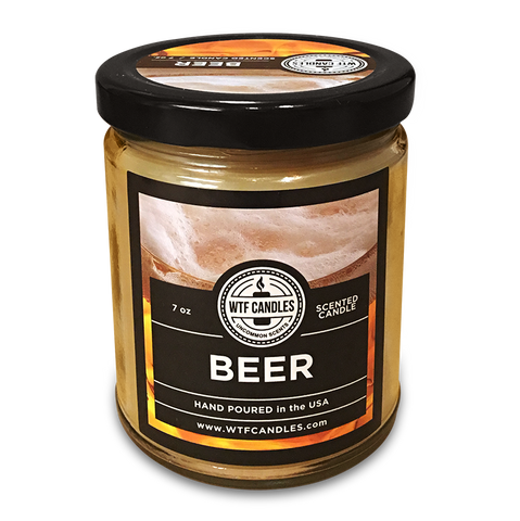 Beer Scented Uncommon Scents WTF Candle