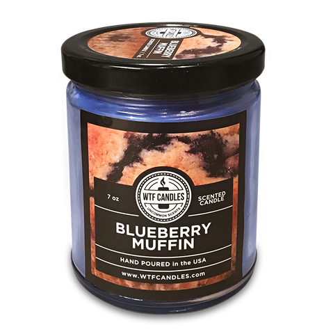 Blueberry Muffin Scented Uncommon Scents WTF Candle