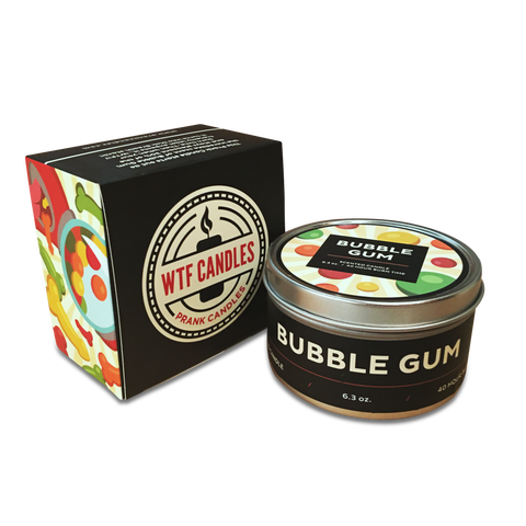 Bubblegum to Dick Breath Prank Candle - With Gift Box