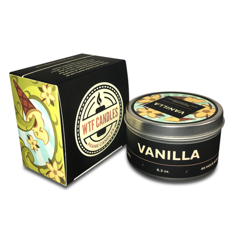 Vanilla to Vomit Prank Candle - With Gift Box