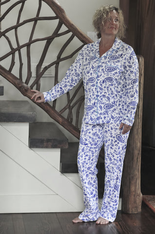 Paisley L/S Full Button PJ Set