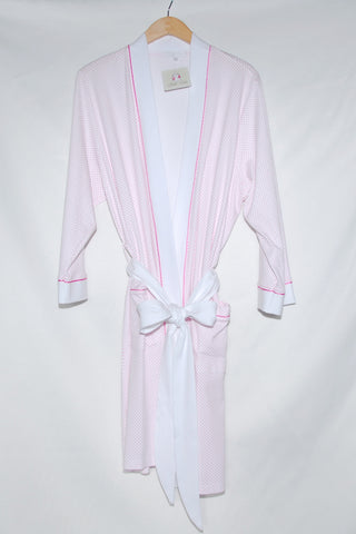 Short Kimono Robe with Mini Dots