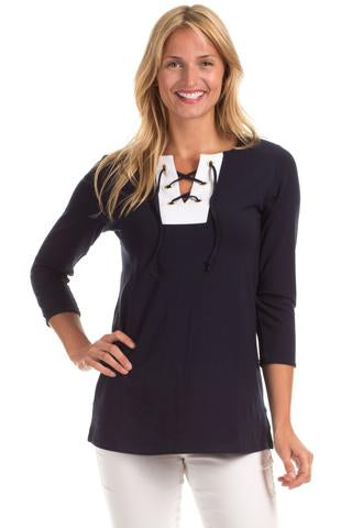 Leslie Lace Up Tunic