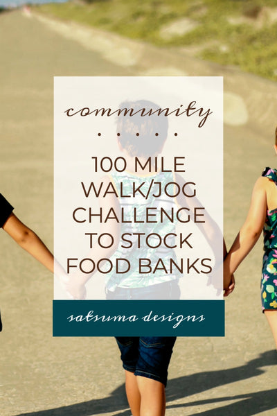 100 Mile Walk/Run Challenge to Stock Food Banks