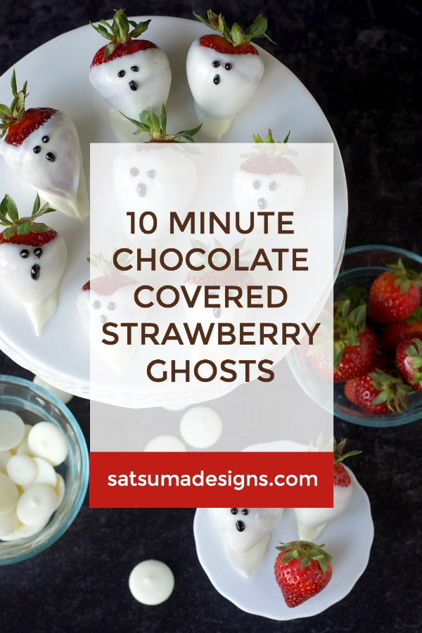 10 Minute Chocolate Covered Strawberry Ghosts